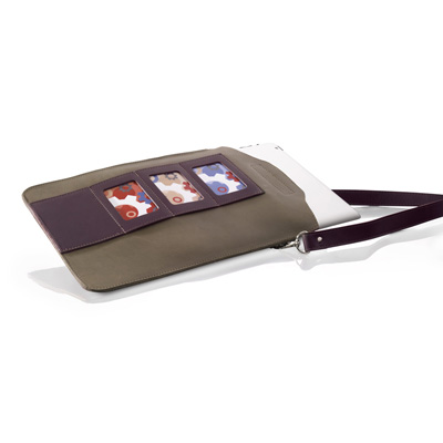 iPad cover Straight lever/aubergine